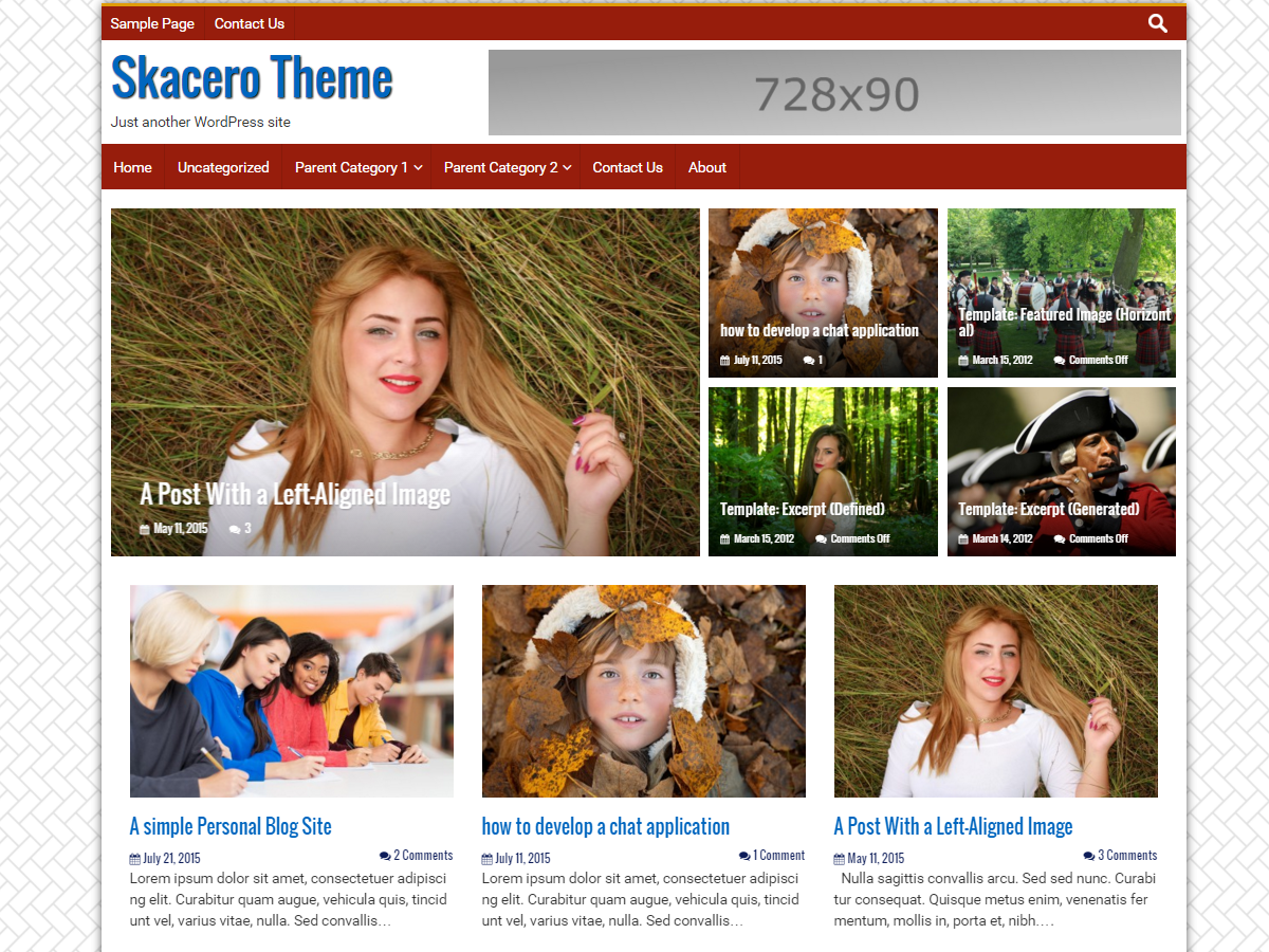 Skacero WordPress Blogging and Magazine Responsive Bootstrap 4 Theme