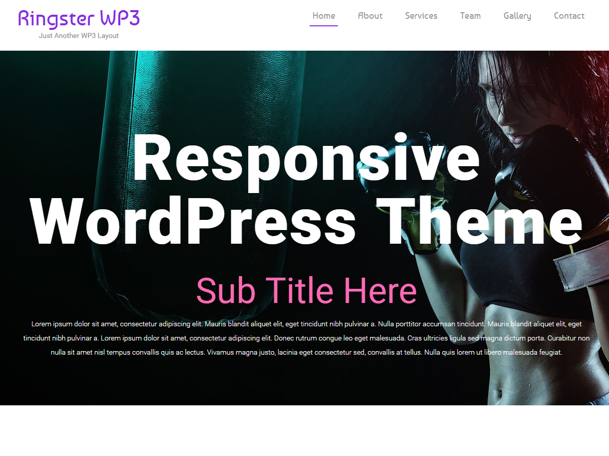 Ringster WP3 WordPress responsive professional theme