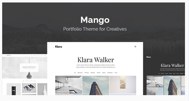 Mango - Creatives Portfolio WordPress Theme
