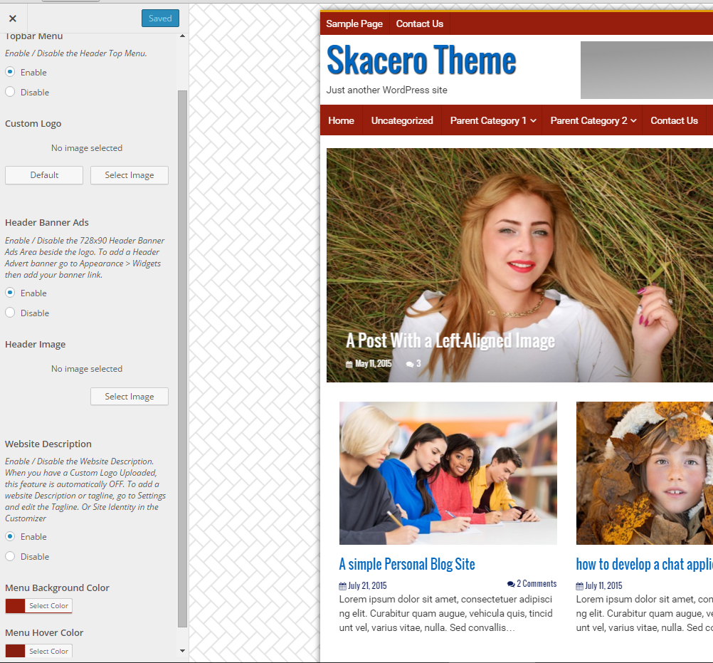 Skacero Lite How to set up Skacero Lite WordPress Blog Theme