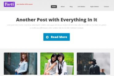 Verti Stylish Custom Responsive Clean WordPress Theme