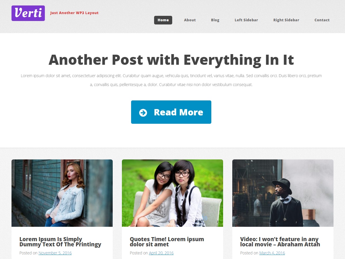 Verti Stylish Custom Responsive Clean WordPress Theme