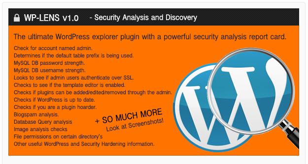 WP-Lens - Security and Analysis WordPress Plugin