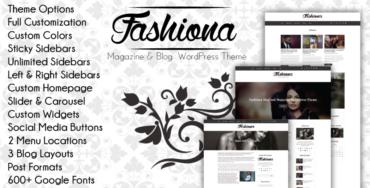 Fashiona – Bootstrap Responsive Blog & Magazine WordPress Theme