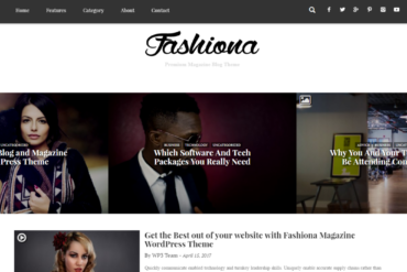 Fashiona - Bootstrap Responsive Blog & Magazine WordPress Theme