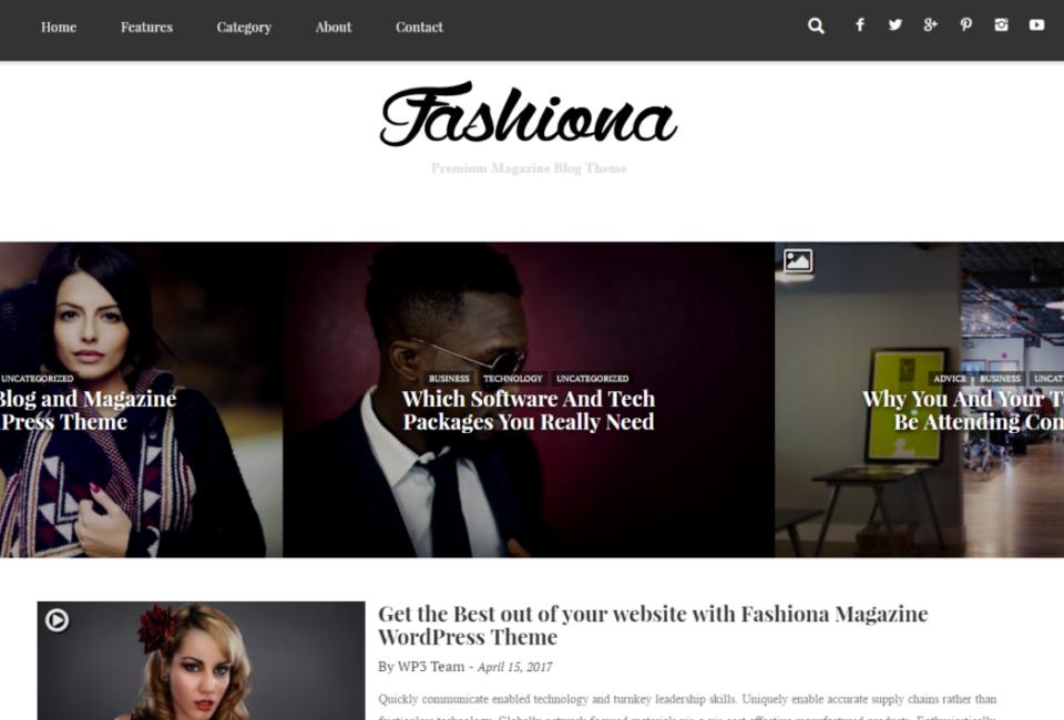 Fashiona - Bootstrap Responsive Blog & Magazine WordPress Theme