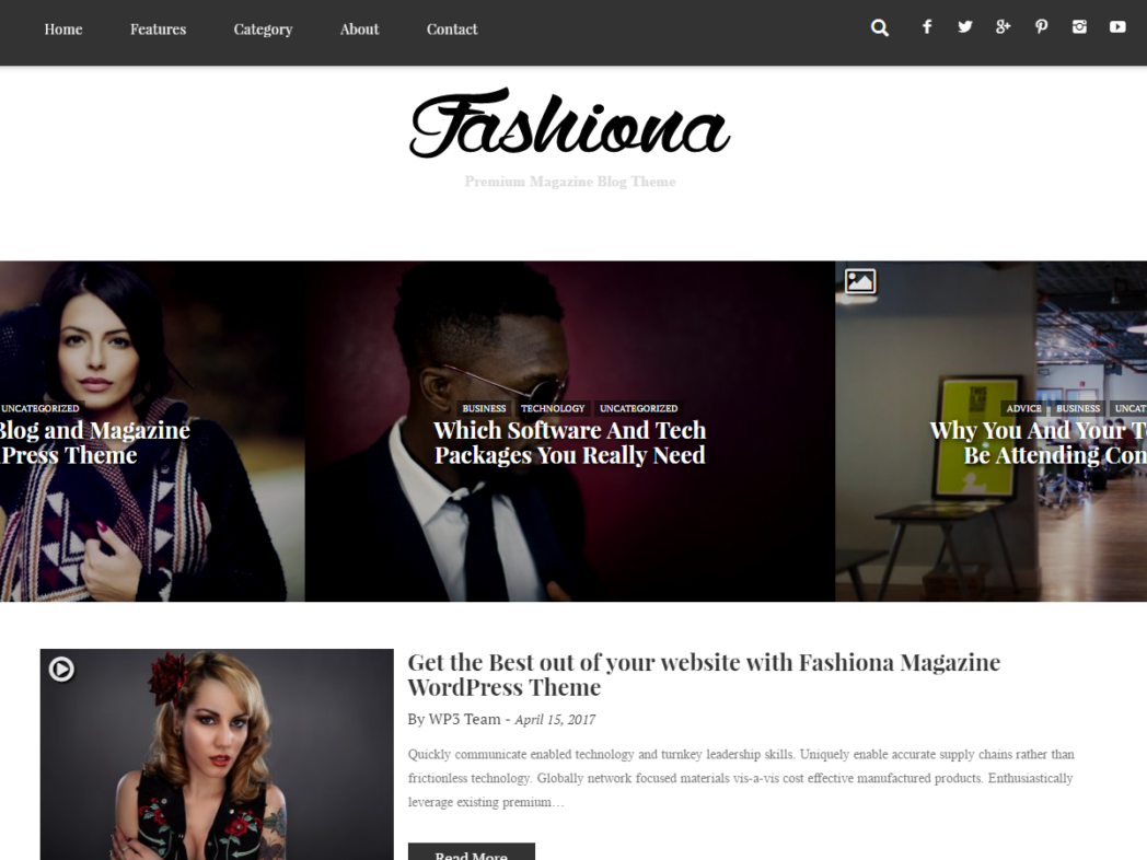 Fashiona – Bootstrap Responsive Blog & Magazine WordPress Theme