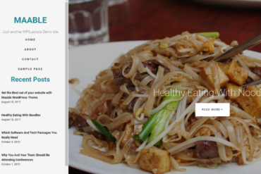 Maable - Responsive Craft, Fashion & Food WordPress Theme