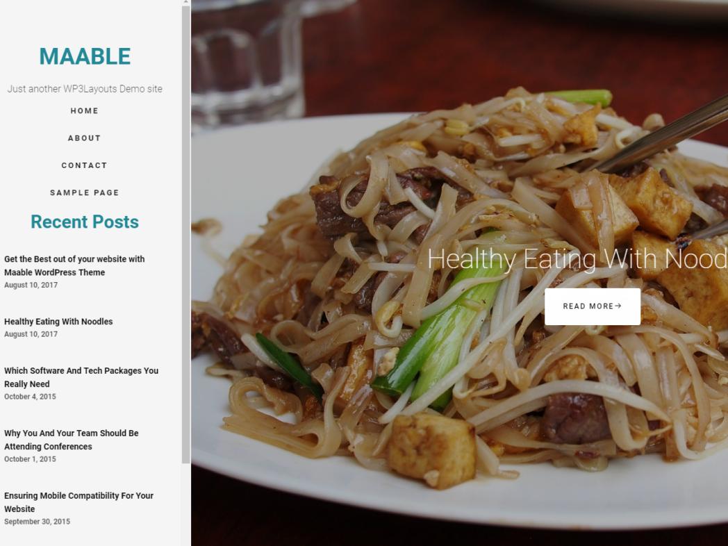 Maable – Responsive Craft, Fashion & Food WordPress Theme